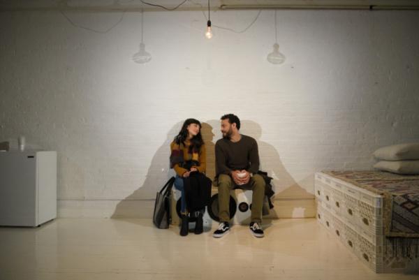 Sheila Vand (Anna) and Cesar J. Rosado (Matthew)  Photo Credit: Knud Adams