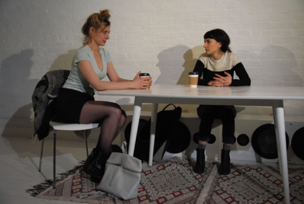 Claire Siebers (Gigi) and Sheila Vand (Anna)   Photo Credit: Knud Adams