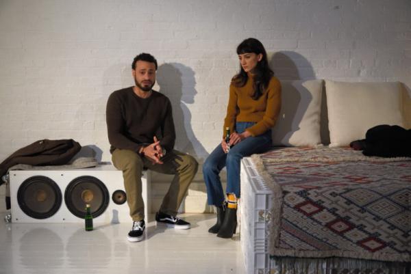 Cesar J. Rosado (Matthew) and Sheila Vand (Anna)   Photo Credit: Knud Adams