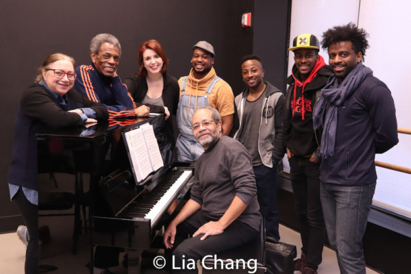 Costume Designer Gail Brassard, Director Andre De Shields, Choreographer Kimberly Schafer, Tommy Scrivens, Wesley Barnes, Lamont Brown, C.K. Edwards with Musical Director Nat Adderley, Jr.