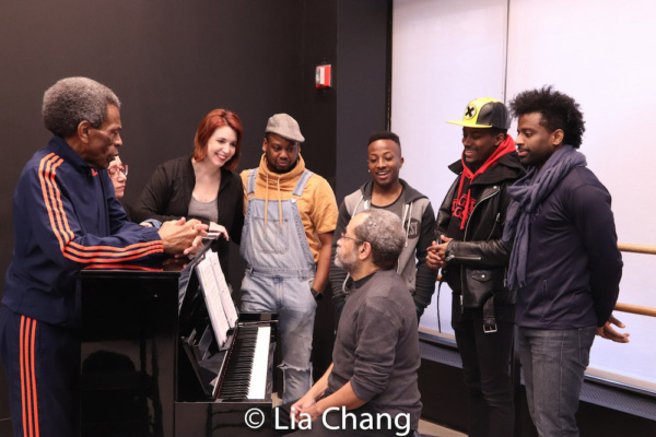 Director Andre De Shields, Costume Designer Gail Brassard, Choreographer Kimberly Schafer, Tommy Scrivens, Wesley Barnes, Lamont Brown, C.K. Edwards with Musical Director Nat Adderley, Jr