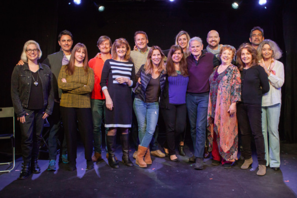 Photos of Eugene Pack''s The Pack at the Pico in Los Angeles on March 5. All photos by Justin Wagner.  This photo: Rebecca Lane (l.), Bradley White, Laraine Newman, Caspar Phillipson, Suzanne Collins,