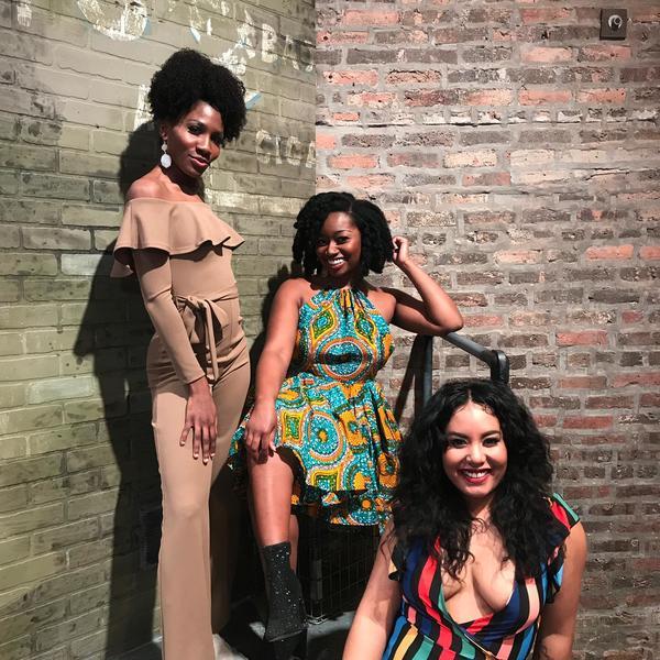 Shantel Cribbs, Adhana Reid and Nicole Lambert