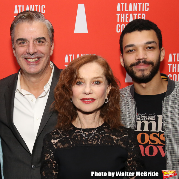 Chris Noth, Isabelle Huppert and Justice Smith Photo