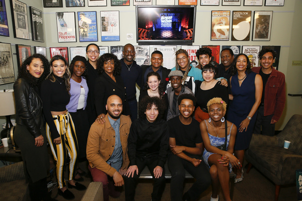 The finalists and advisors during the August Wilson Monologue Competition Los Angeles Regional Finals