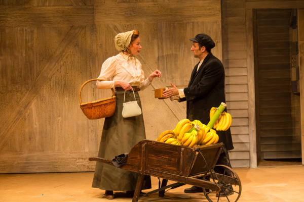 (L to R) Gretchen Hall and Benjamin Pelteson in The Immigrant, written by Mark Harelik, conceived by Mark Harelik and Randal Myler, at George Street Playhouse, March 12 - April 7, 2019.     Photo by T