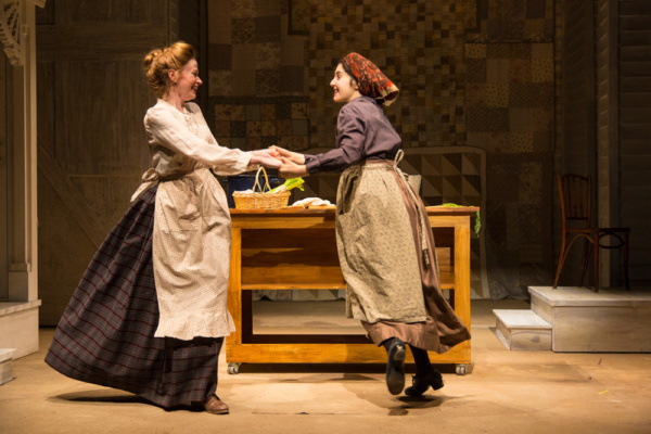 (L to R) Gretchen Hall and Lauriel Friedman in The Immigrant, written by Mark Harelik, conceived by Mark Harelik and Randal Myler, at George Street Playhouse, March 12 - April 7, 2019.     Photo by T.