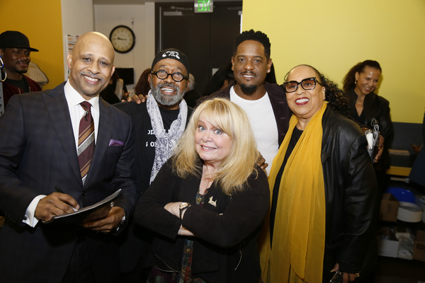 From left, creator/performer Ruben Santiago-Hudson, actors Ben Vereen, Sally Struthers, Blair Underwood and Roz Ryan. Photo Credit: Ryan Miller/Capture Imaging