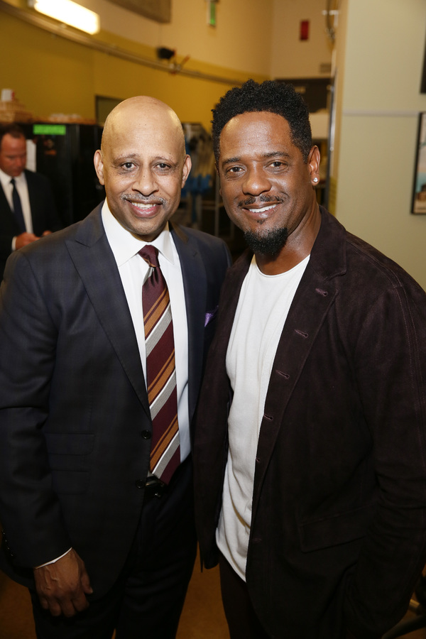 From left, creator/performer Ruben Santiago-Hudson and actor Blair Underwood. Photo Credit: Ryan Miller/Capture Imaging