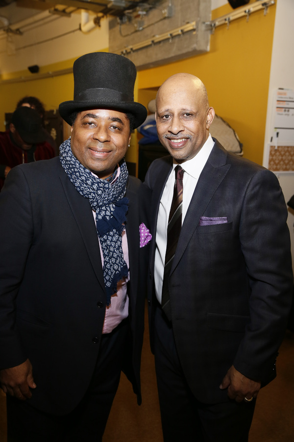 From left, guitarist Chris Thomas King and creator/performer Ruben Santiago-Hudson. Photo Credit: Ryan Miller/Capture ImagingFrom left, actor Blair Underwood and Center Theatre Group Artistic Director Michael Ritchie. Photo Credit: Ryan Miller/Capture Imaging