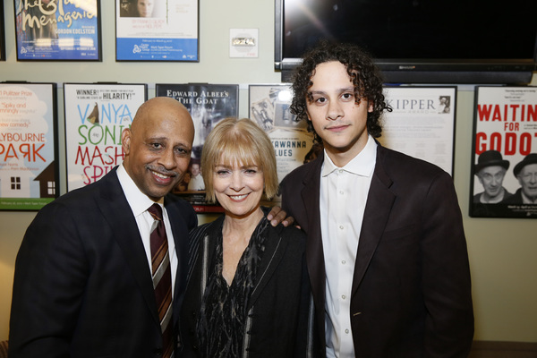 From left, creator/performer Ruben Santiago-Hudson, his wife, Jeannie Brittan and their son, actor Trey Santiago-Hudson. Photo Credit: Ryan Miller/Capture Imaging