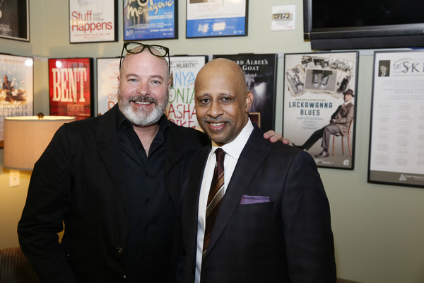 From left, scenic designer Michael Carnahan and creator/performer Ruben Santiago-Hudson. Photo Credit: Ryan Miller/Capture Imaging