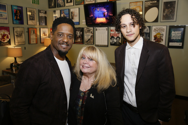 From left, actors Blair Underwood, Sally Struthers and Trey Santiago-Hudson
