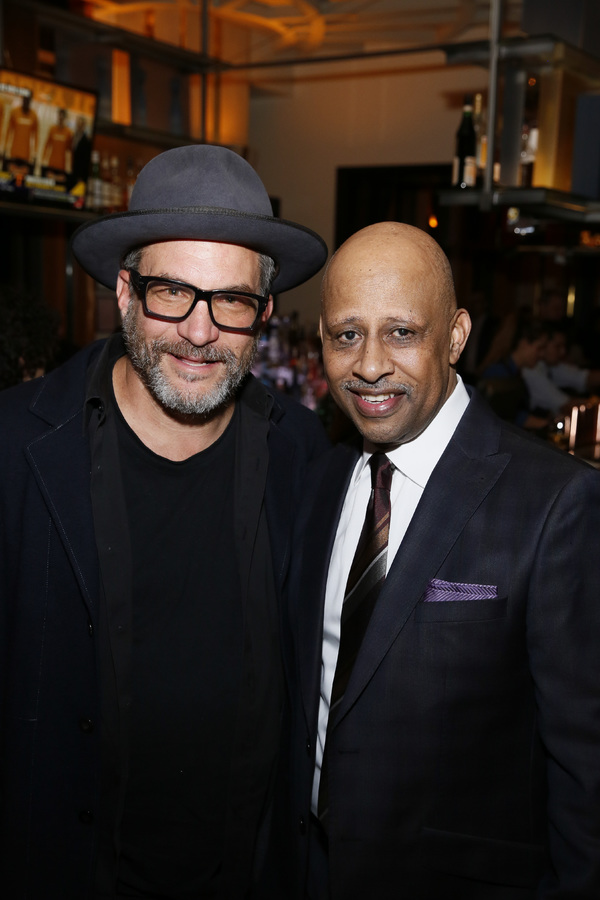 From left, filmmaker Adam Davidson and creator/performer Ruben Santiago-Hudson. Photo Credit: Ryan Miller/Capture Imaging