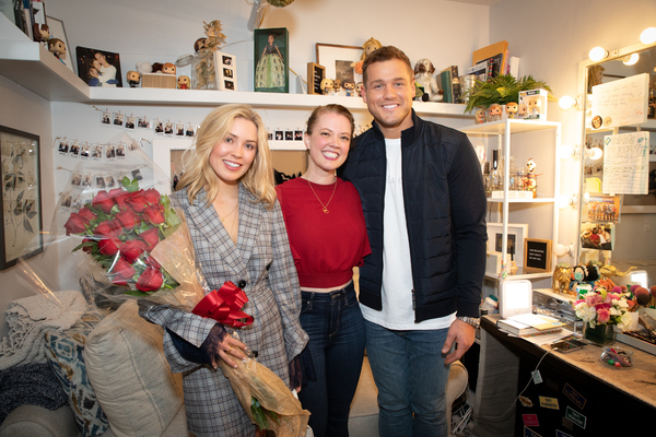 'Bachelor' Couple Colton Underwood And Cassie Randolph Brave The Cold At FROZEN!