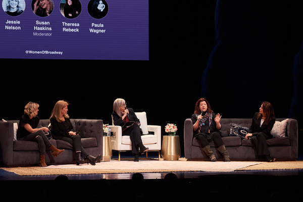 Anaïs Mitchell, Jessie Nelson, Susan Haskins, Theresa Rebeck, and Paula Wagner  Photo