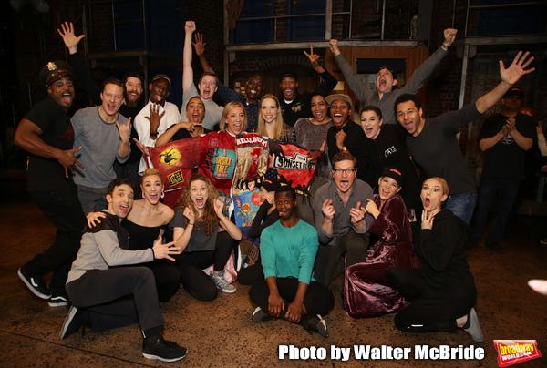 Erica Mansfield, Will Chase, Kelli O'Hara, Corbin Bleu and the cast Photo