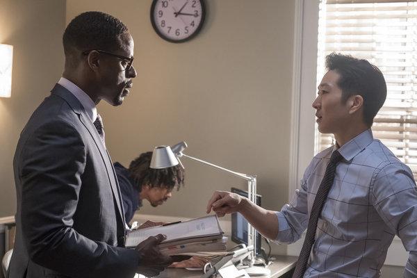 Sterling K. Brown as Randall Pearson, Tim Jo as Jae-won Yoo Photo