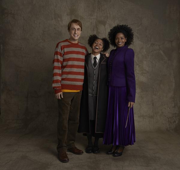 Matt Mueller (as Ron Weasley), Nadia Brown (as Rose Granger-Weasley), Jenny Jules (as Hermione Granger)