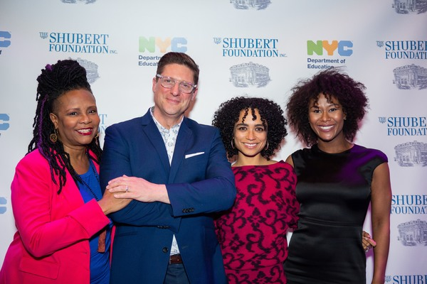 Tonya Pinkins, Christopher Sieber, Lauren Ridloff, and Christina Soujous