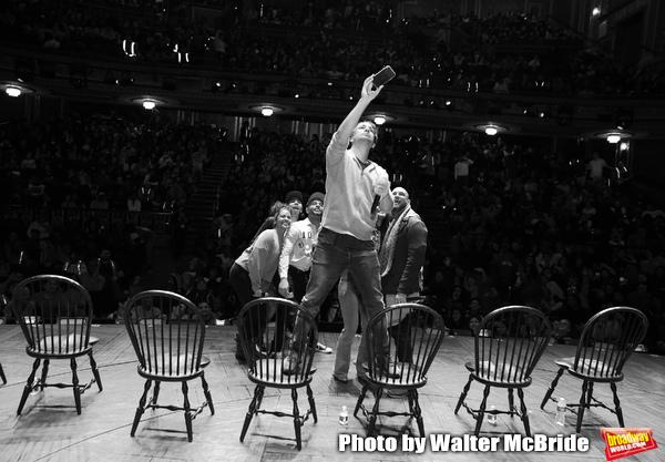Marc dela Cruz, Elizabeth Judd, Greg Treco, Terrance Spencer, Anthony Lee Medina, Sasha Hollinger with Lin-Manuel Miranda making a surprise appearance during a Q & A before The Rockefeller Foundation and The Gilder Lehrman Institute of American History sp
