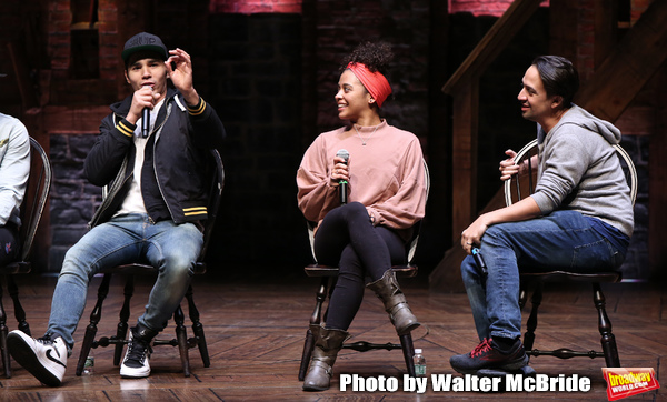 Anthony Lee Medina, Sasha Hollinger with Lin-Manuel Miranda Photo