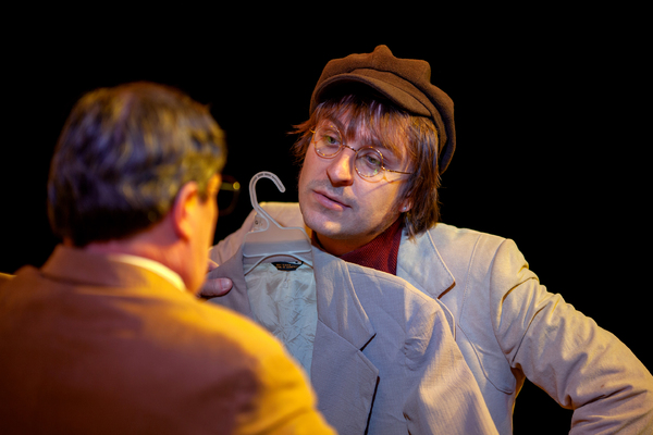 Phil Powers as Leon Wildes and Forrest Hejkal as John Lennon