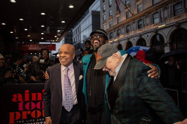Berry Gordy, Otis Williams, and Shelly Berger