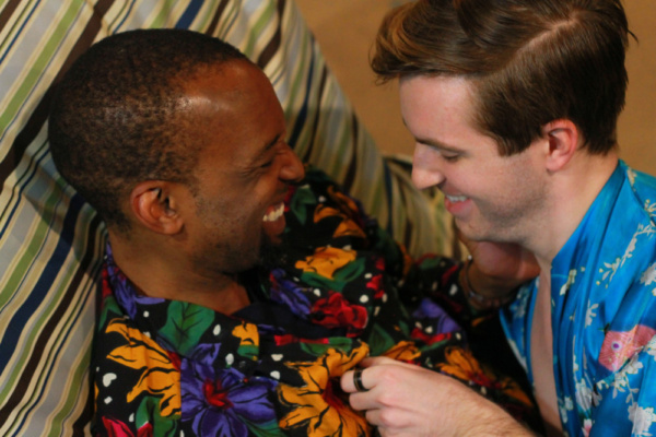 Charles J. Ouda as Alex and Kevin Rogers as Donny in TIME IT IS: TO MUSIC    Photo credit: Michael Maricondi