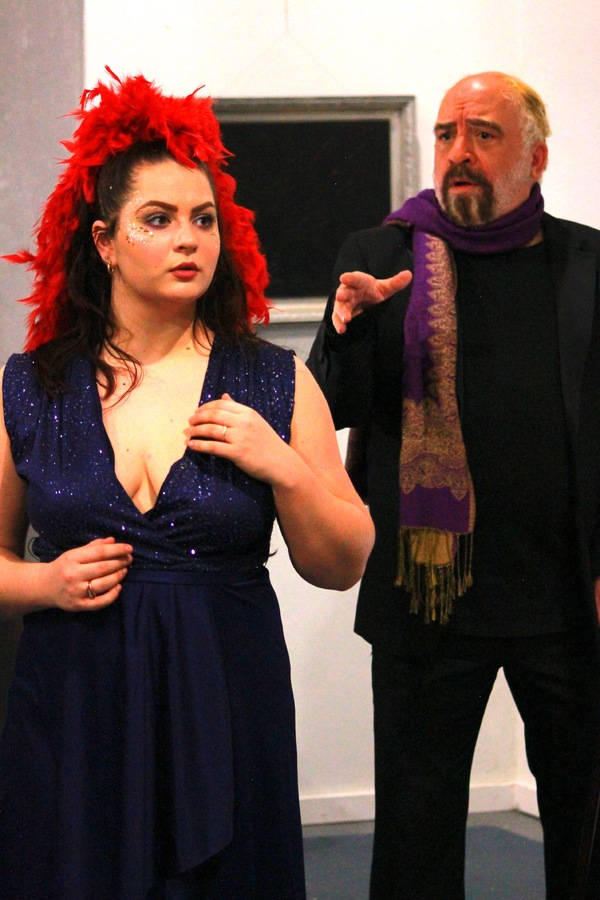 Erica Malachowski as Alizia and David Zen Mansley as Diamant  in TIME IT IS: TO MUSIC Photo