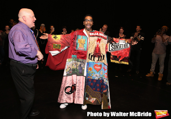 David Westphal with E. Clayton Cornelious during the Legacy Robe honoring E. Clayton Cornelious