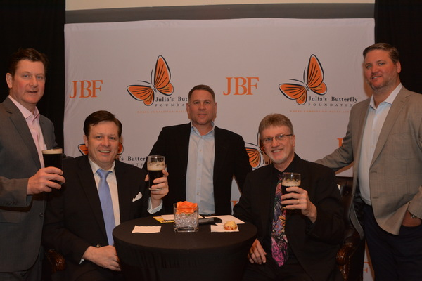 Anthony Kearns and David George with Michael J. Quinn, John McDermott and Matthew D Eitner of Laidlaw Asset Management