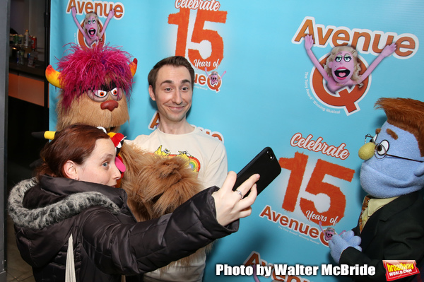 Jason Jacoby with Avenue Q & Puppetry Fans  Photo