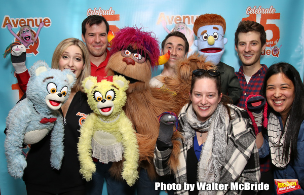 Jamie Glickman, Jason Jacoby and Matt Dengler with Avenue Q & Puppetry Fans