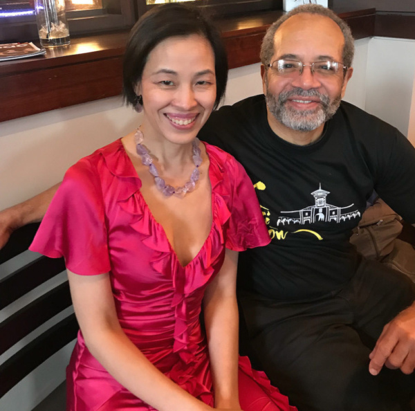 Lia Chang and Musical Director Nat Adderley, Jr. Photo by Jim Mirrione