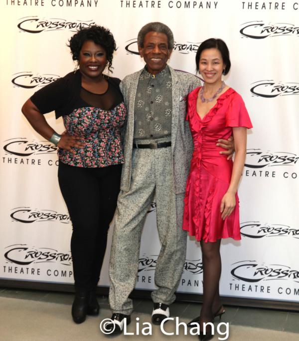 Johmaalya Adelekan, Director Andre De Shields and Lia Chang.  Photo by Susan Settles  Photo