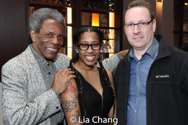 Director Andre De Shields, Assistant Stage Manager Chelsea Olivia Friday and Producti Photo