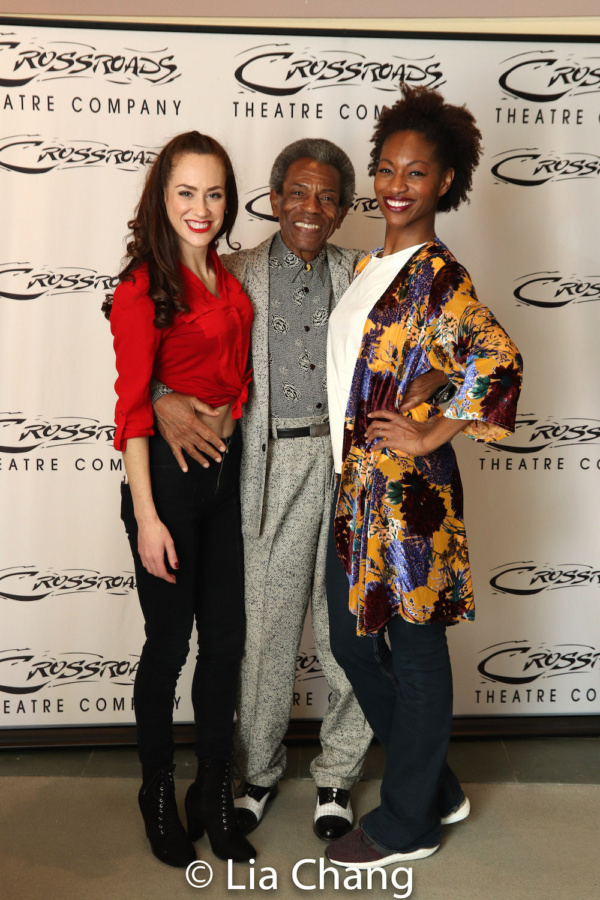 Kaleigh Cronin, Director Andre De Shields and Jenny Laroche Photo