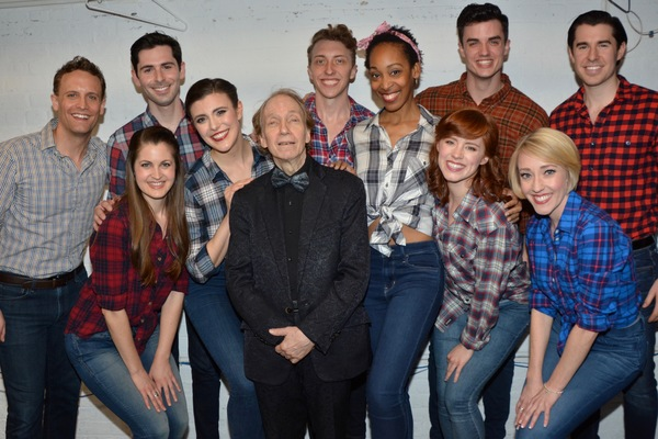 Scott Siegel with the Broadway By Te Year Dancers that includes-Aaon Burr, Brad Freette, Danny Gardner (Choreographer), Sally Glaze, Bryan Hunt, Brooke Lacy, Kim McClay, Kristyn Pope, Kelly Sheehan and John Wolfe