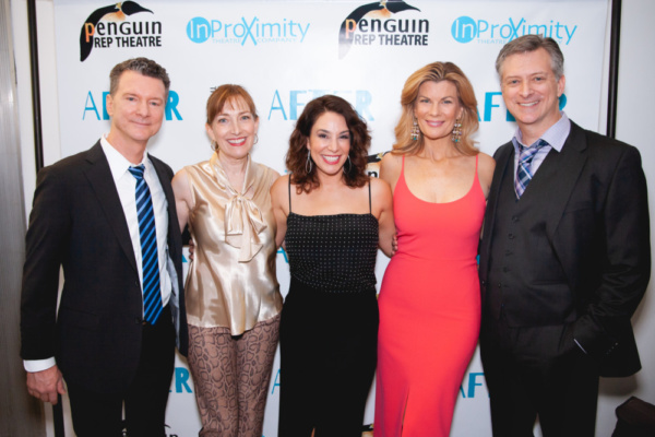 The cast of AFTER: Bill Phillips, Denise Cormier, Jolie Curtsinger, Mia Matthews, and Michael Frederic. Photo Credit: NMX Photo