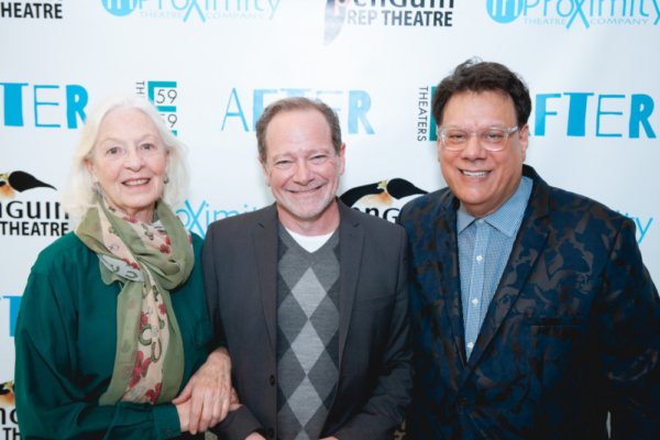 Jane Alexander with AFTER playwright Michael McKeever and director Joe Brancato. Phot Photo