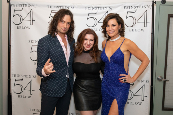 Constantine Maroulis, Lydia Liebman and Luann de Lesseps at 54 Below on March 16th, 2019