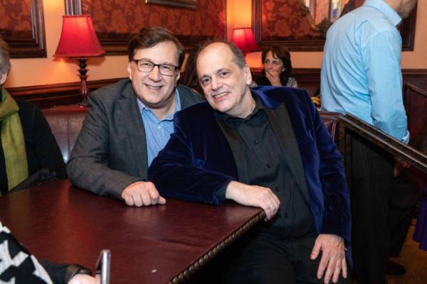 Todd Ellison, Conductor Philadelphia Pops, and John Minnock at 54 Below on March 16th Photo