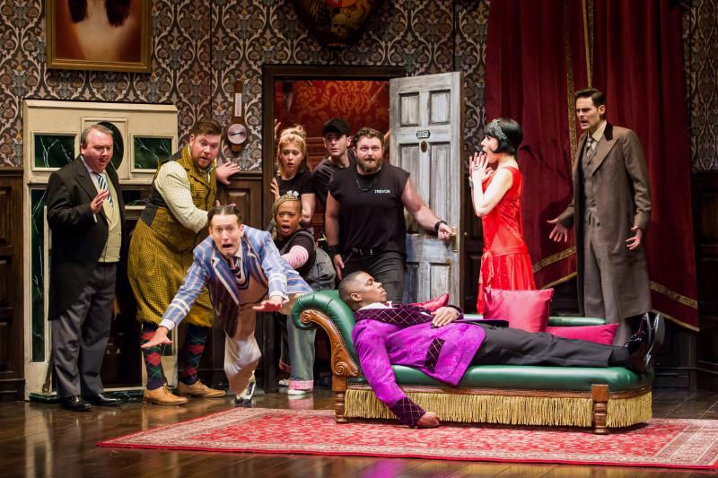 BWW Review: THE PLAY THAT GOES WRONG Brings Shtick, Slapstick and Spit-take Silliness to the Hobby Center
