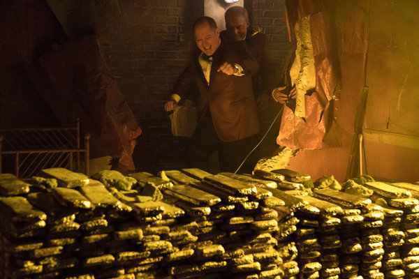 "James Spader as Raymond ""Red"" Reddington, Stacy Keach as Robert Vesco"