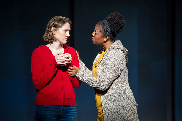 Sophie Hearn as Alice Carter and Dan'yelle Williamson as Ms. Hopkins Photo