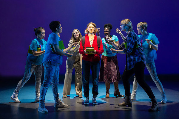 Sophie Hearn as Alice Carter (center) with the cast of  Life After Photo