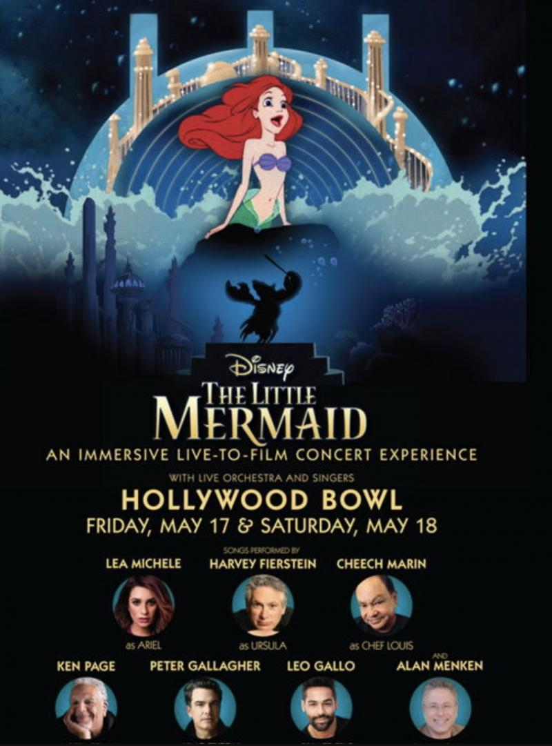 THE LITTLE MERMAID at the Hollywood Bowl to Star Lea Michele, Harvey Fierstein, Peter Gallagher & More...