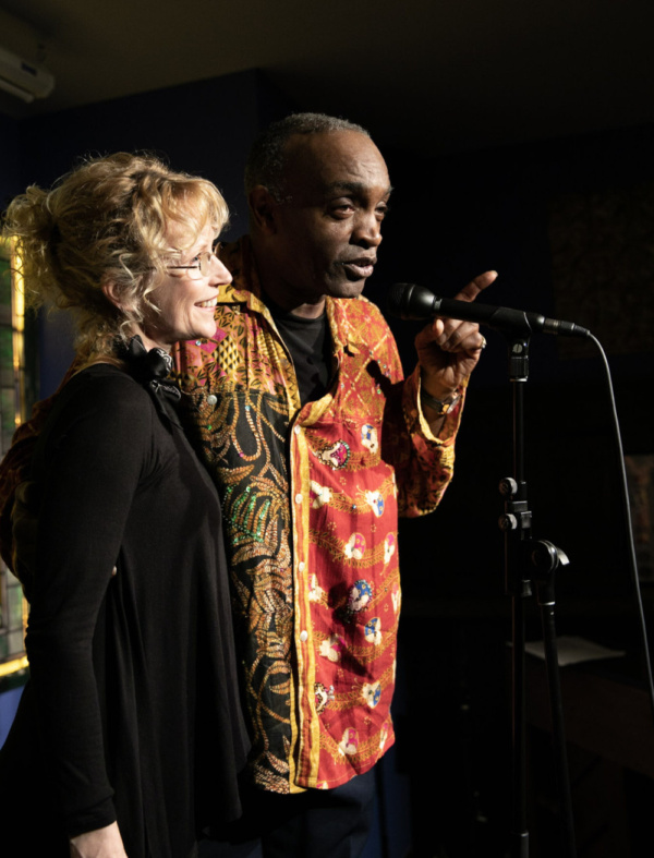 Ray Shell and Kim Leeson onstage at Spoonfed NYC. Photo by Sekou Luke Studio.