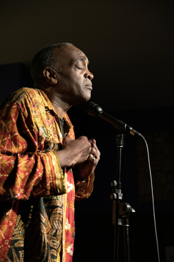 Ray Shell sings Starlight Express at Spoonfed NYC. Photo by Sekou Luke Studio.  Photo